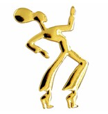 Godert.Me Godert.me Dancing girl pin goud