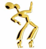 Godert.me Dancing girl pin goud