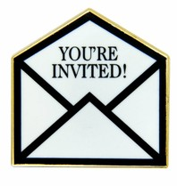 Godert.me You're invited pin goud
