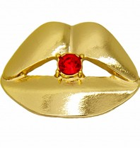 Godert.Me Godert.me Lips rhinestone red pin gold