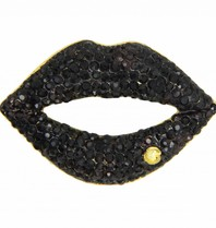 Godert.Me Godert.me Strass Lippenstift aus schwarzem Gold