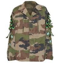 Ragyard Ragyard Camo Peacock jacket met mouwdetails army