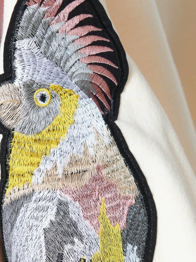 Ragyard Ragyard Parrot sleeve sweatshirt met ronde hals crème