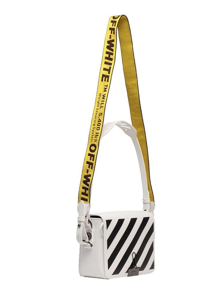 Off-White OFF-WHITE Diag flap schoudertas wit