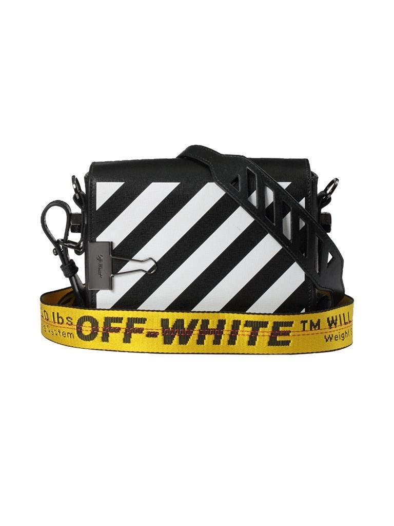Off-White OFF-WHITE Diag flap schoudertas zwart
