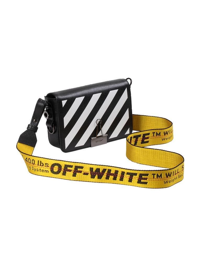 Off-White OFF-WHITE mini Diag flap schoudertas zwart