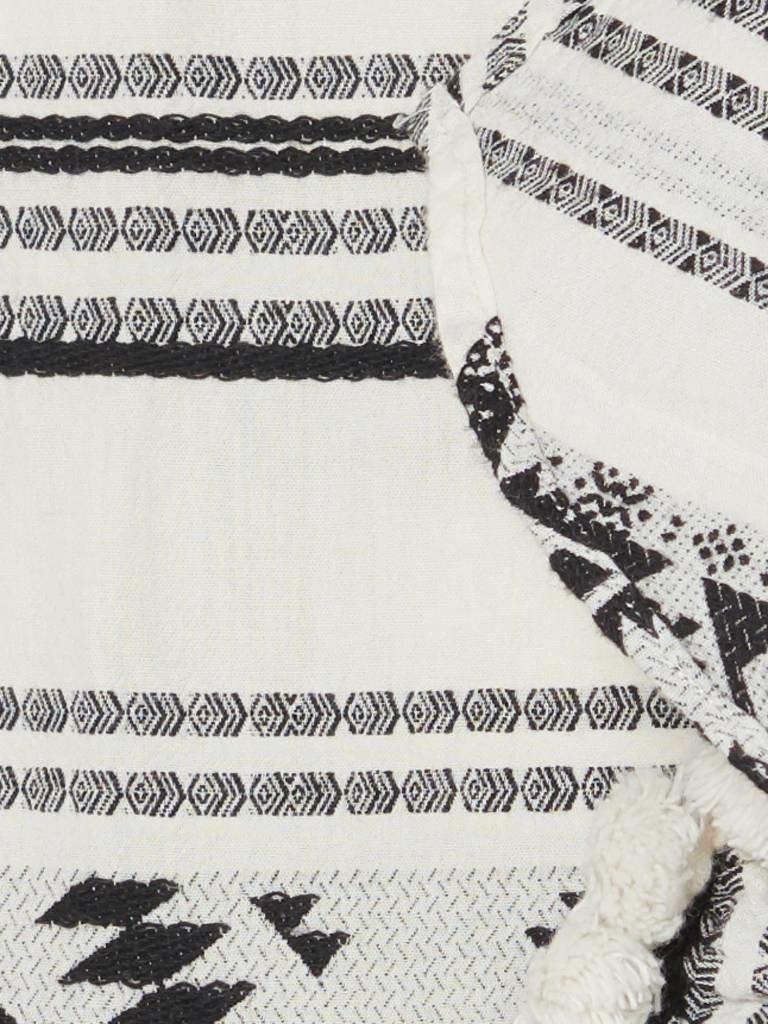 Devotion Devotion Rock mit Print und Volant schwarz und weiß
