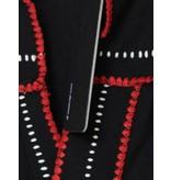 Devotion Devotion Bluse Lino mit Details schwarz