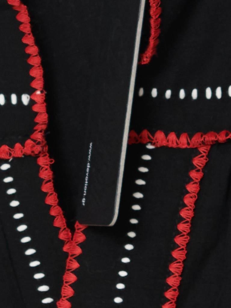 Devotion Blouse Lino met details zwart