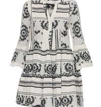 Devotion Andacht Zakar Kleid mit Druck und Volant schwarz und weiß
