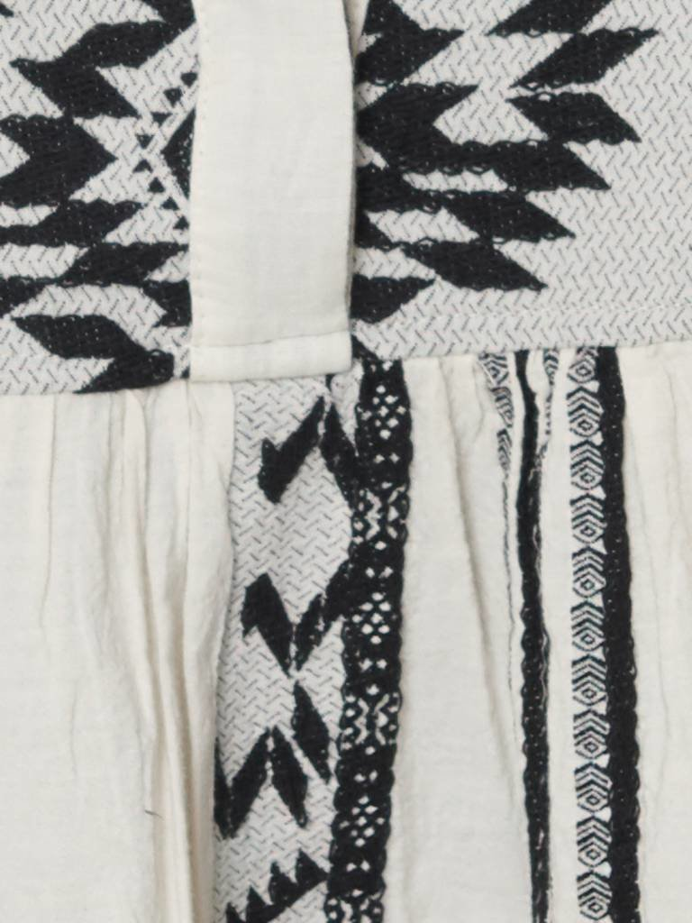 Devotion Zakar jurk met print en volant zwart wit