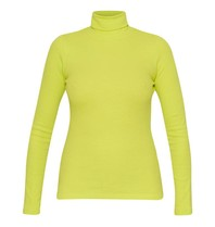 La Sisters La Sisters Turtle neck top neon yellow
