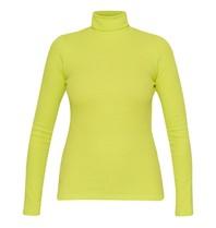 La Sisters Turtle neck top neon geel