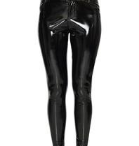 La Sisters Vinyl five pocket pants zwart