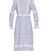 Notes Du Nord Kimberly jurk met volants gestreept blauw