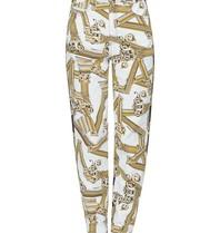 Versace Jeans broek met fregi antique print  zwart wit