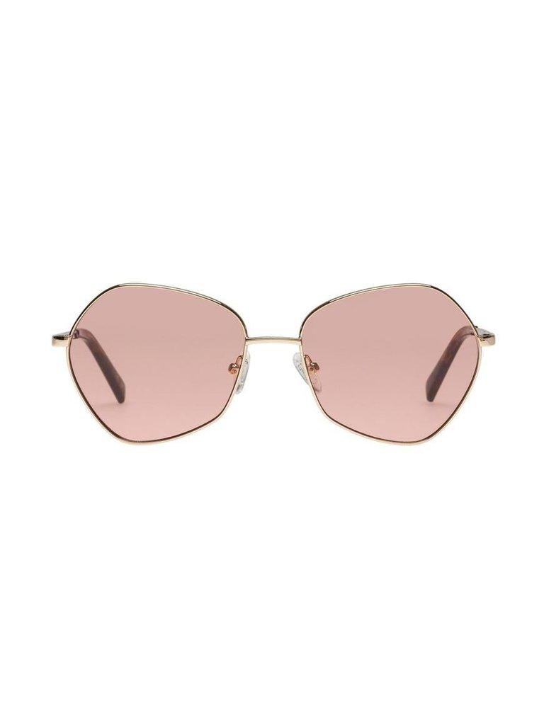 Le Specs Le Specs Escadrille zonnebril goud roze
