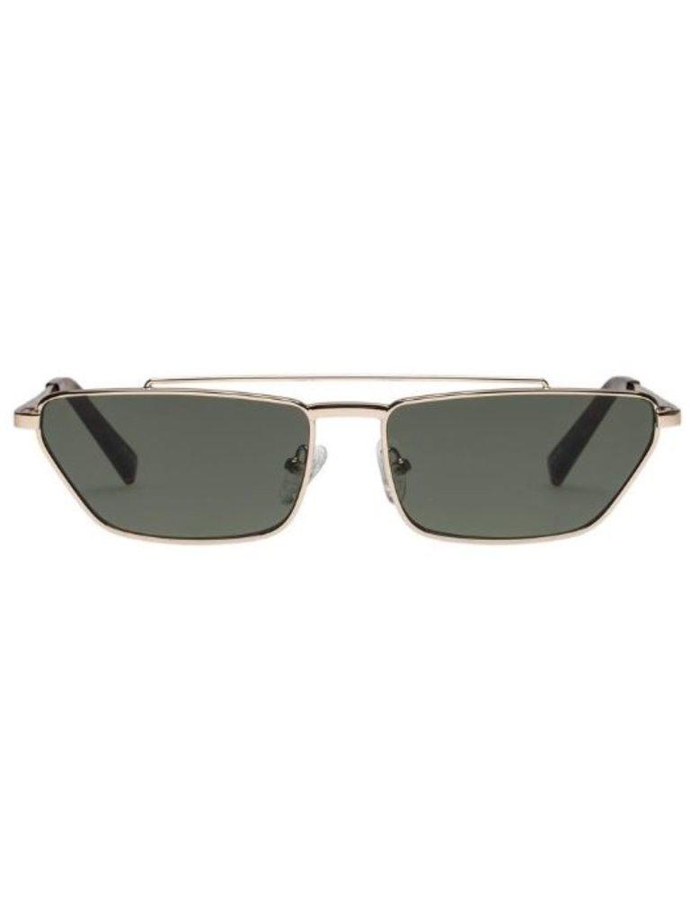 Le Specs Le Specs Electricool zonnebril goud khaki mono
