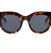 Le Specs Air heart zonnebril schildpad print bruin