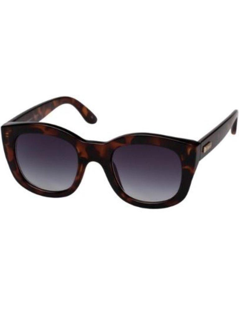 Le Specs Le Specs Runaways zonnebril schildpad print bruin