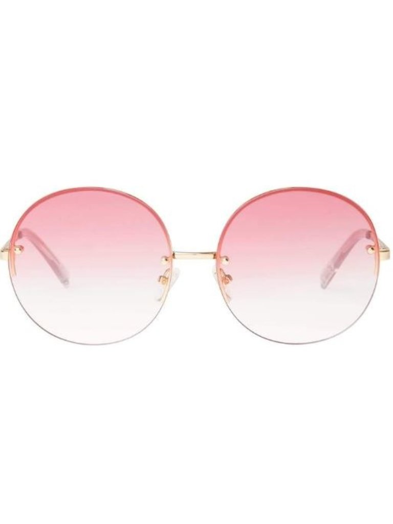 Le Specs Le Specs Say My Name zonnebril goud roze