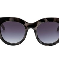 Le Specs Air heart sunglasses turtle print black