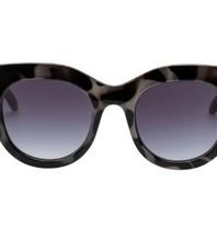 Le Specs Air heart zonnebril schildpad print zwart