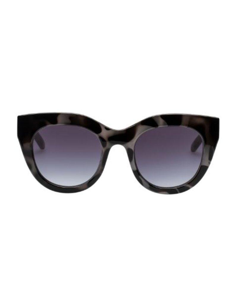 Le Specs Le Specs Air heart zonnebril schildpad print zwart