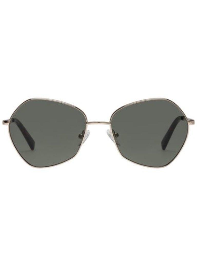 Le Specs Le Specs Escadrille zonnebril goud  khaki