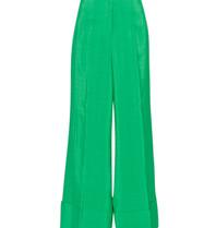Erika Cavallini wide-leg pantalon groen