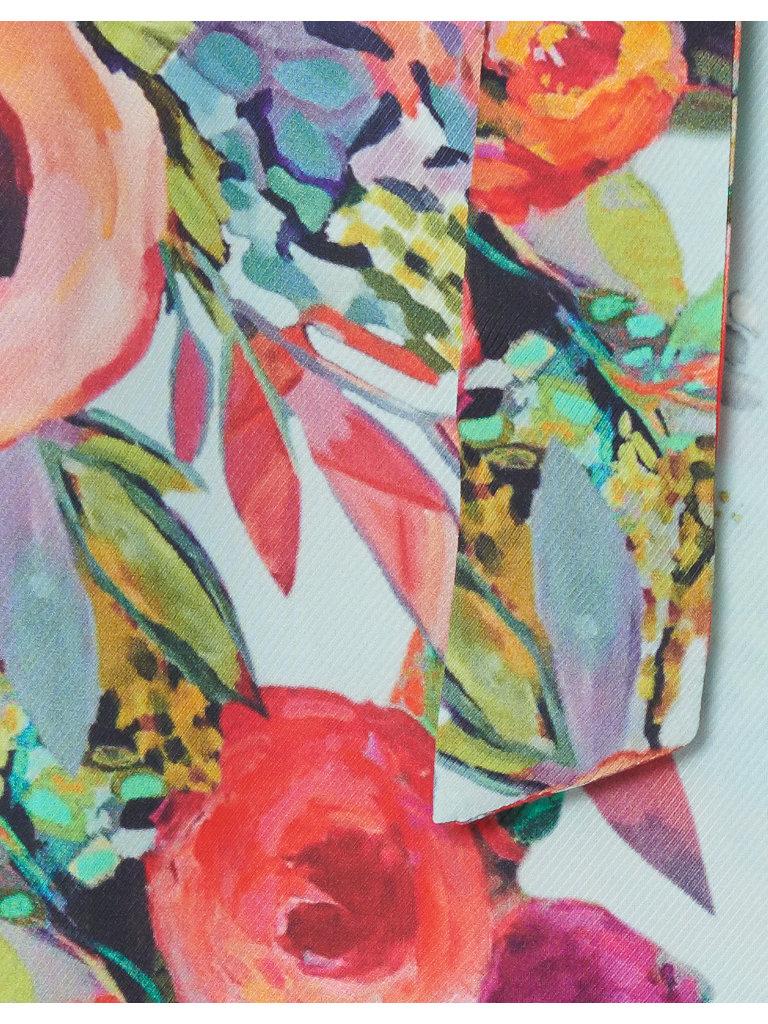 Valentine Gauthier Valentine Gauthier Carmen rok met volant en bloemetjes print blauw