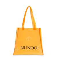 Núnoo Núnoo shopper transparant oranje small