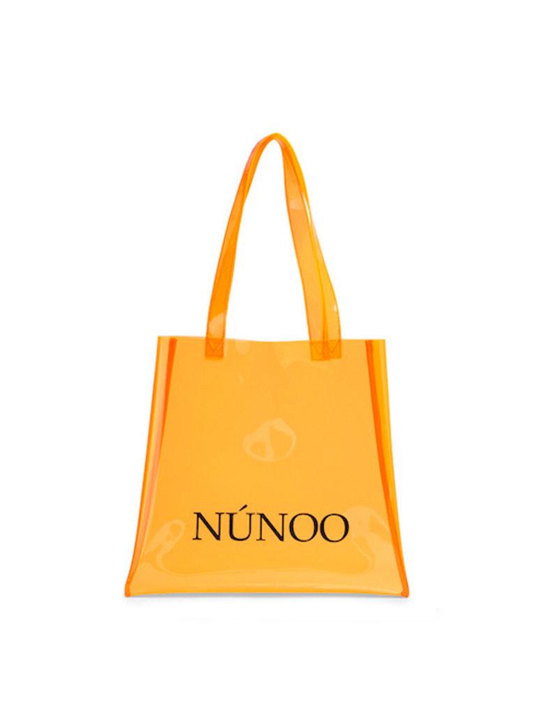 Núnoo Núnoo shopper transparant oranje small