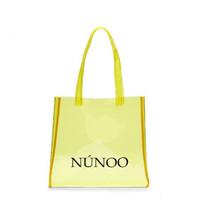 Núnoo shopper transparant geel small