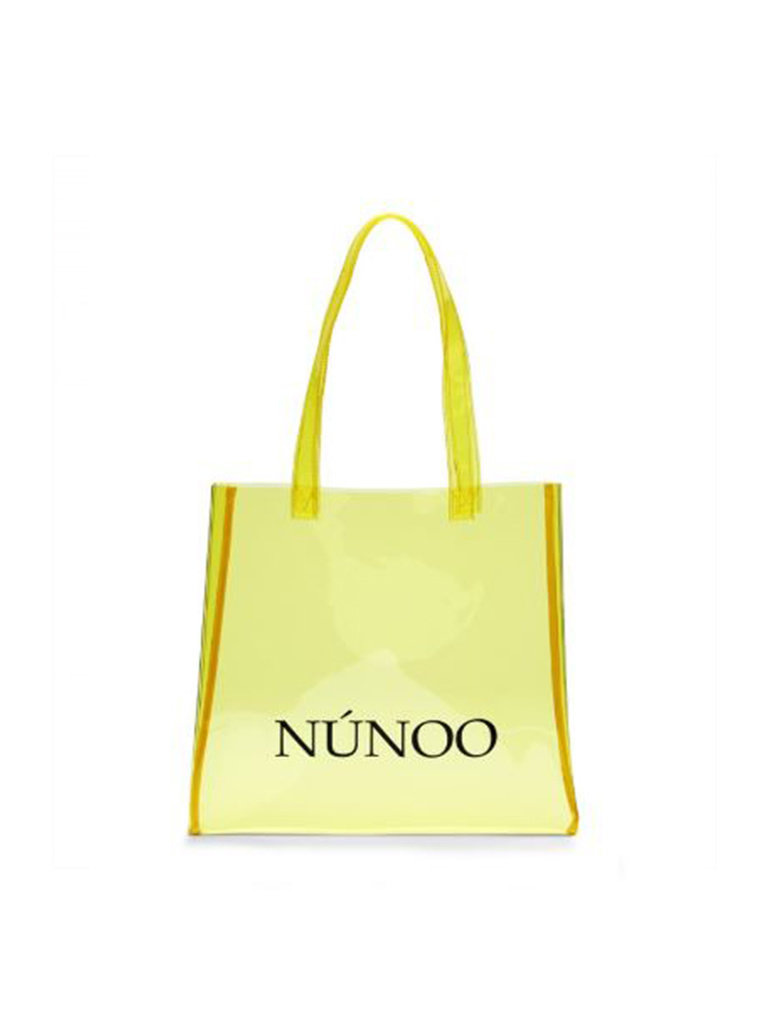 Núnoo Núnoo Shopper transparent gelb klein