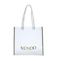 Núnoo shopper transparant met luipaardprint details small
