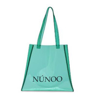 Núnoo Núnoo shopper transparant mint groen small