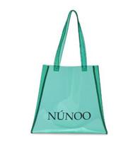 Núnoo shopper transparant mint groen small