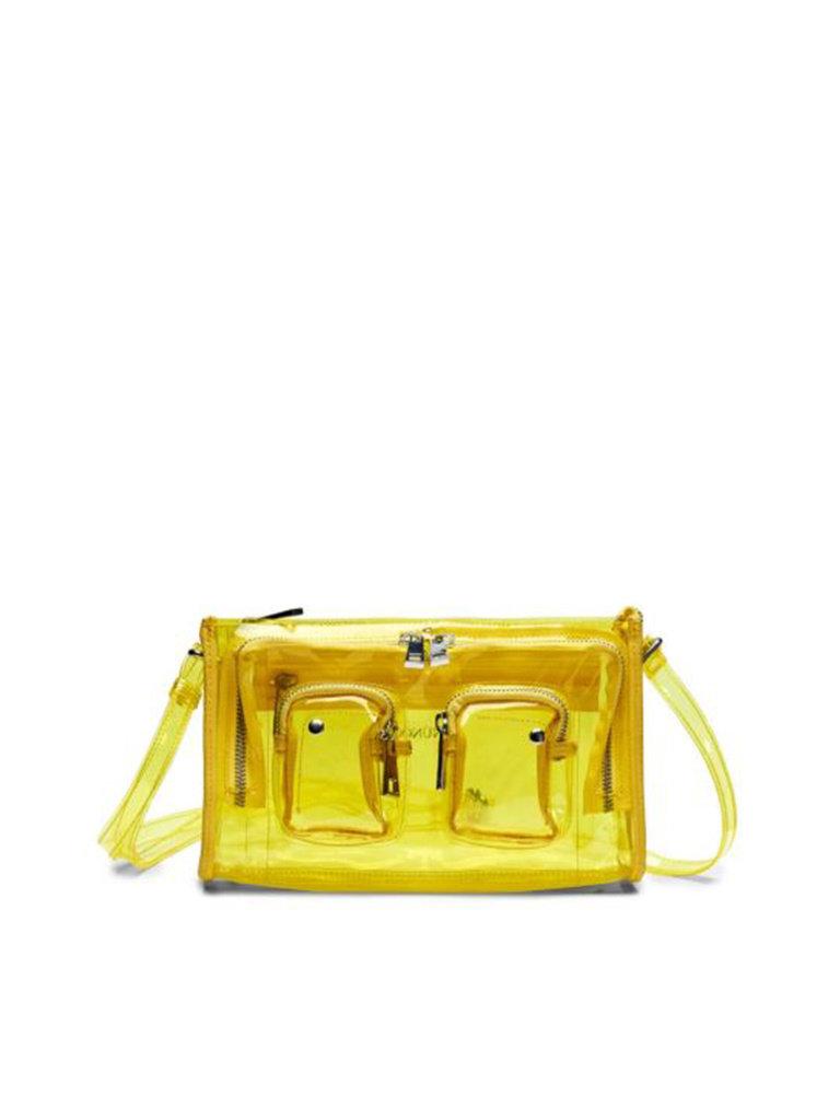 Núnoo Núnoo Stine tas transparant geel large