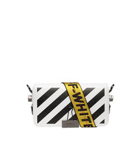 Off-White OFF-WHITE mini Diag flap schoudertas wit