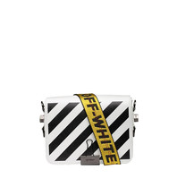 Off-White OFF-WHITE Diag flap schoudertas wit