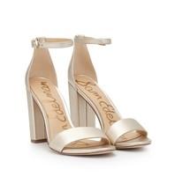 Sam Edelman Yaro block heel sandal light gold