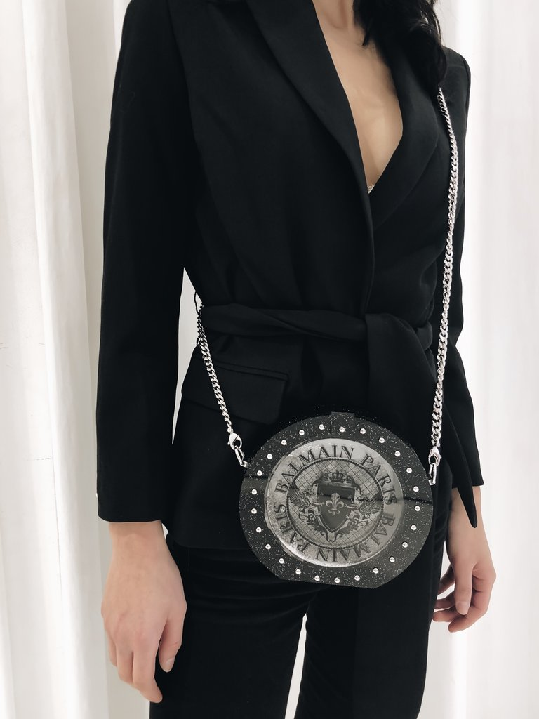 Balmain Balmain Mini Tasche mit silbernen Details