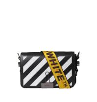 OFF-WHITE Mini Diag Flap-Schultertasche schwarz