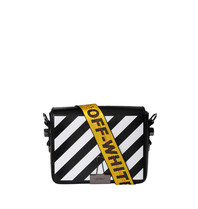 Off-White OFF-WHITE Diag flap shoulder bag black