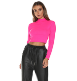 Runaway The Label Runaway The Label Trippin cropped turtleneck neon pink