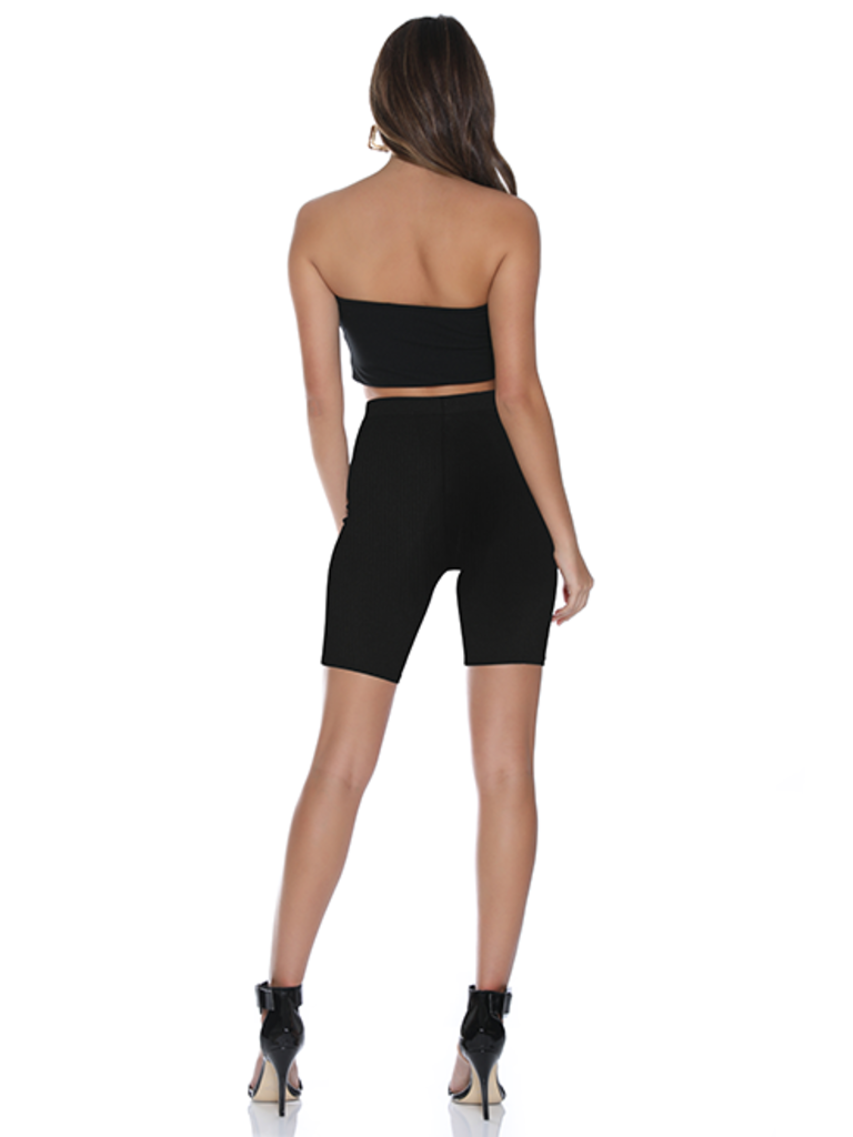 Runaway The Label Runaway The Label ribbed bandeau top black