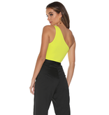 Runaway The Label Runaway The Label bodysuit one shoulder yellow