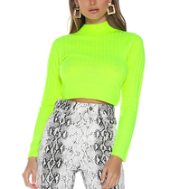 Runaway The Label Runaway The Label Trippin cropped turtleneck neon green