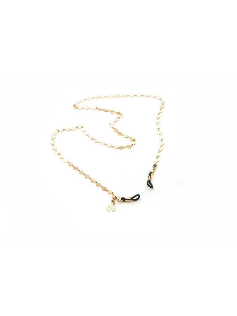 Quay Quay sunglasses necklace gold